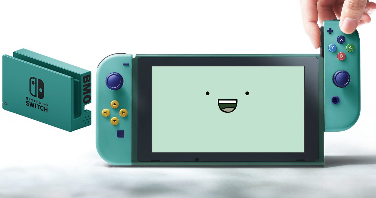 Nintendo Switch On Twitter Fan Edit Thought It Would Be Cool To Have A Bmo Themed Nintendoswitch Https T Co 2q9tb1axrh Via U Bass1025