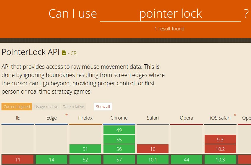Safari shipped Pointer Lock support; now supported on all… https://t.co/F0w9xgdcKs