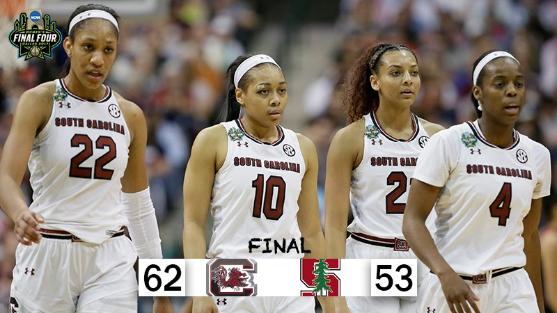 For the first time in school history, @GamecockWBB will play for the #NationalChampionship!!! https://t.co/ogrlvxQ9Lk