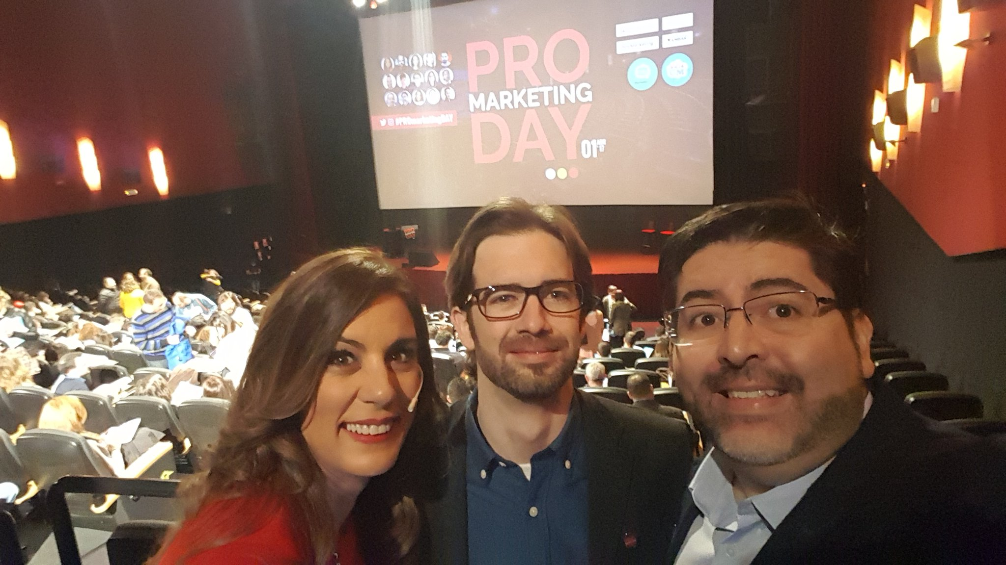 A punto de comenzar el #ProMarketingDay feliced con la acogida del evento https://t.co/A2YlvUHzhM