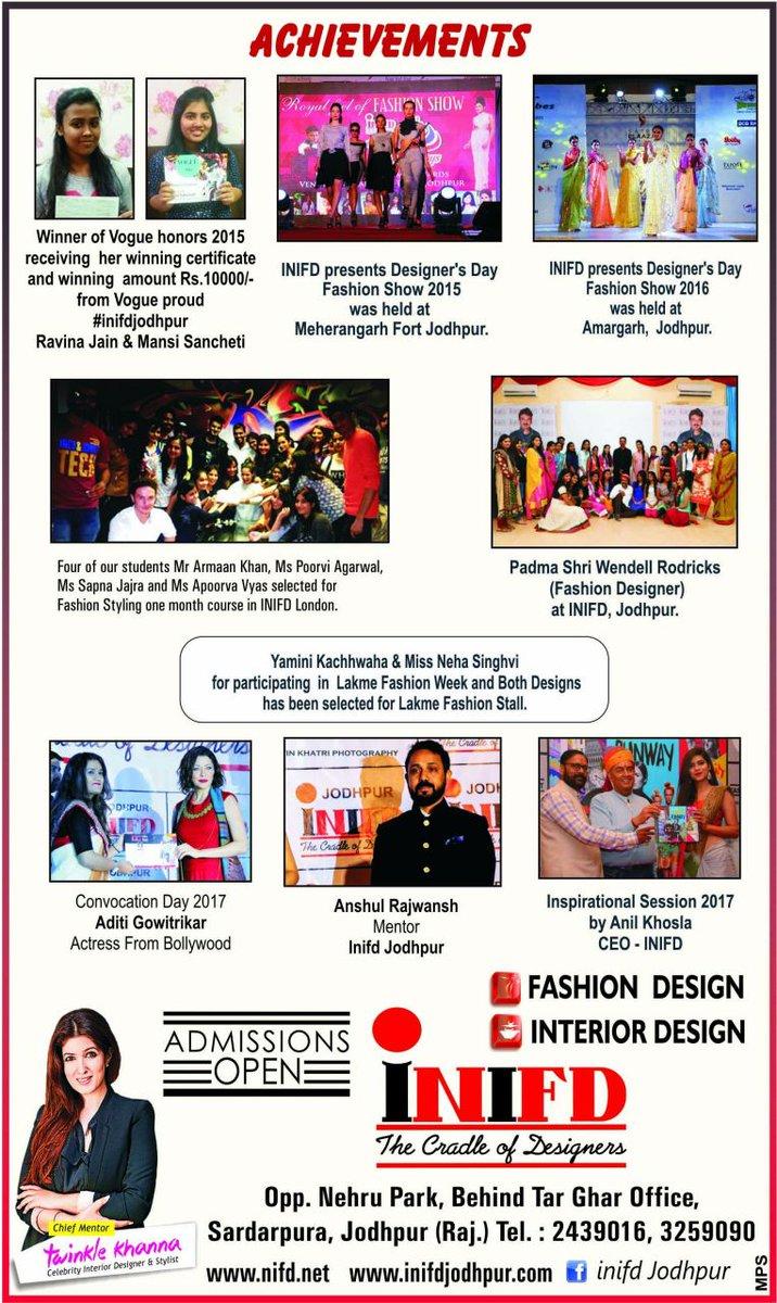 Inifd Jodhpur On Twitter Fashion Designer Vishal Kapoor Fashion Journalist Mehul Suthar Coming To Interact All The Inifdjodhpur Students On 1 4 2017 Sharp 3 30pm Https T Co Uvmfssukep