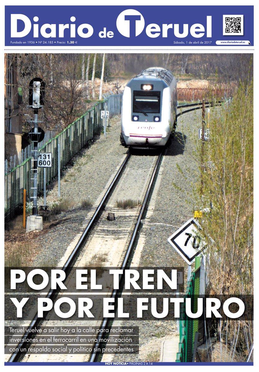 """""""Por el tren y por el futuro"""", la portada de hoy https://t.co/pKoAX7hcCl"""