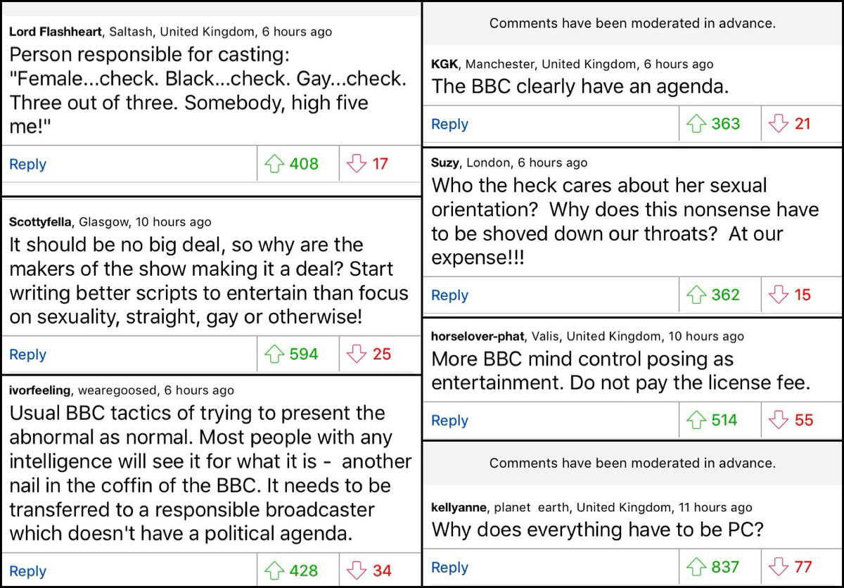The Dm Reporter On Twitter Your Comments Doctor Whos New Companion Confirmed As Gay Leading To A Torrent Of Rage From Daily Mail Readers
