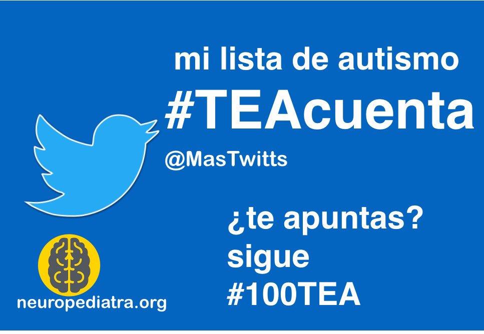 3 Muchos en Twitter hablamos de #autismo. Esta es mi lista #TEAcuenta https://t.co/9koKJ3XSNw ¿Faltas tú? Apúntate y sigue #100TEA https://t.co/BBsptDexT3