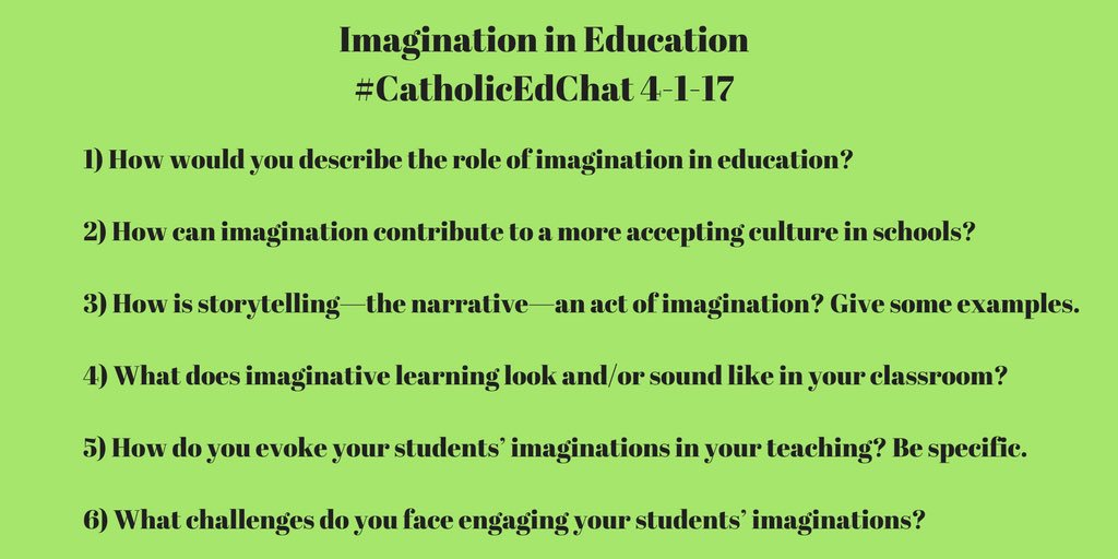 Our questions for #CatholicEdChat see you at 8am CST https://t.co/62ogo6utP1