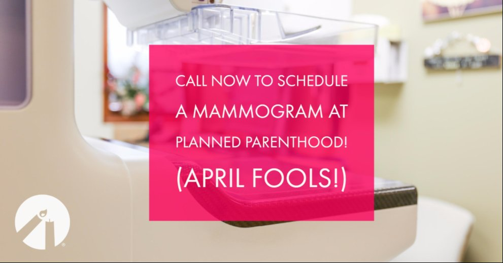 Don't be fooled. Planned Parenthood doesn't do mammograms. https://t.co/DMBJKCHGGf