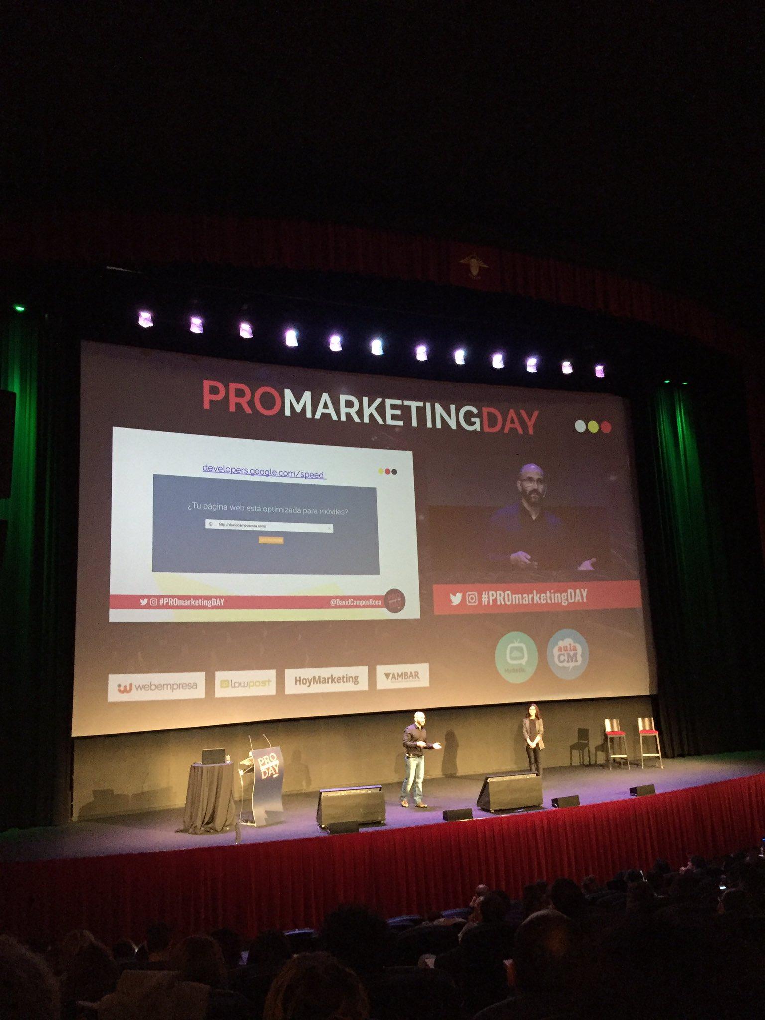 ¿Sabes si tu web está optimizada para dispositivos móviles? 📲 @DavidCamposRoca nos habla de #Googledevelopers en #ProMarketingDay https://t.co/dJ4iBWdnsT