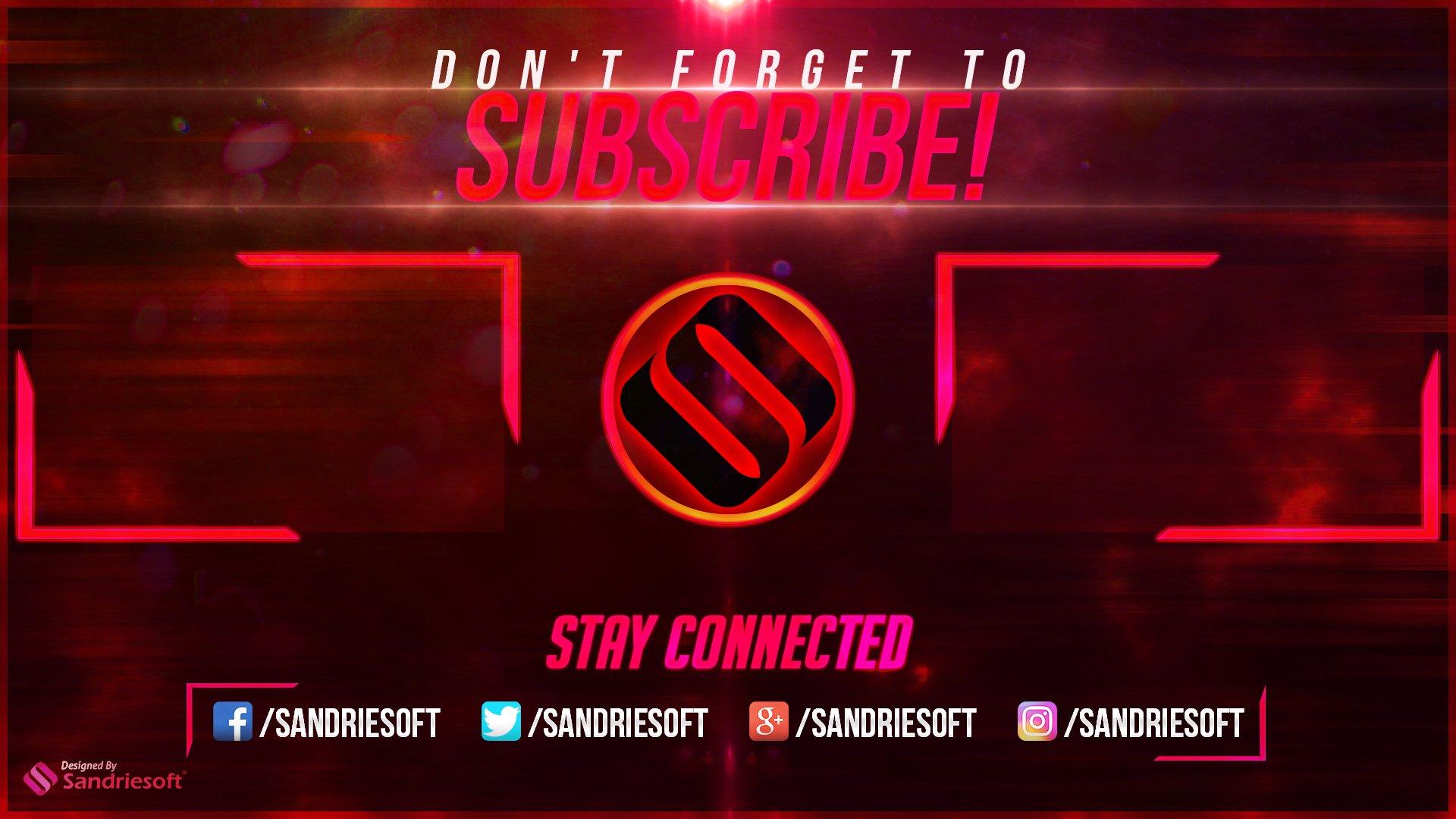 sandriesoft on twitter   u0026quot youtube outro free photoshop
