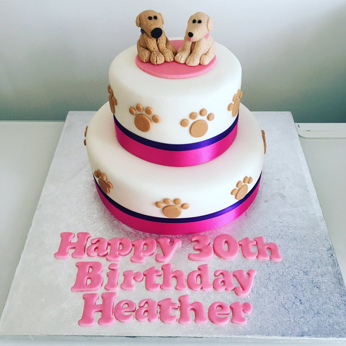 Cakes By Dominique On Twitter Dog Themed Birthday Cake Warrington