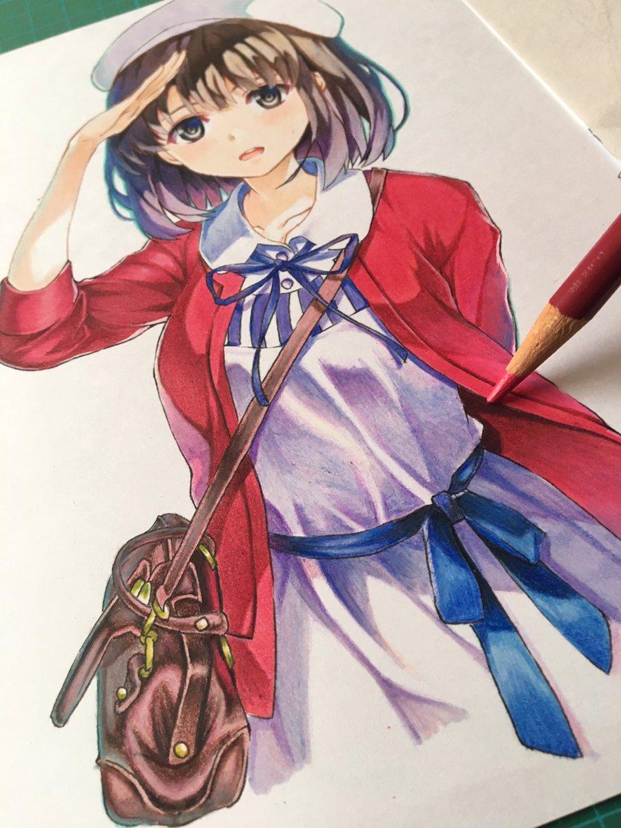 ゆーせー On Twitter 冴えない彼女の育て方 より加藤恵を色鉛筆と