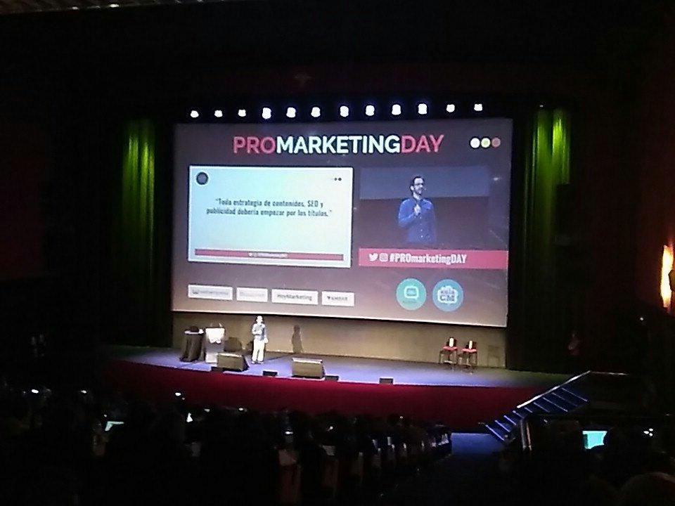 Grande! Muy buena ponencia de @BrunoVD sobre el CTR! #ProMarketingDay https://t.co/f5Uo2stVri