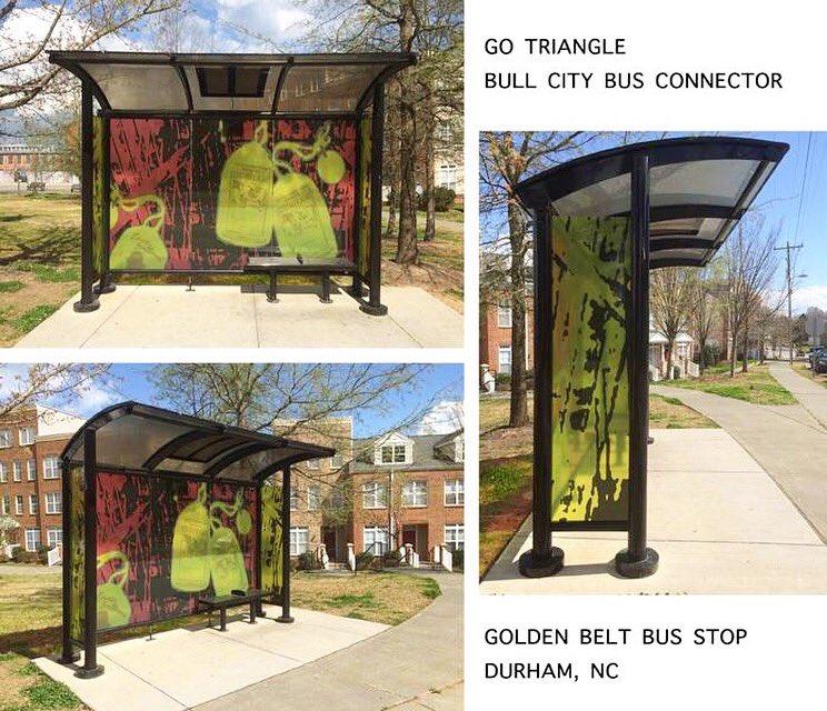 Sharon Dowell On Twitter My Art Installed In The Golden Belt Bus