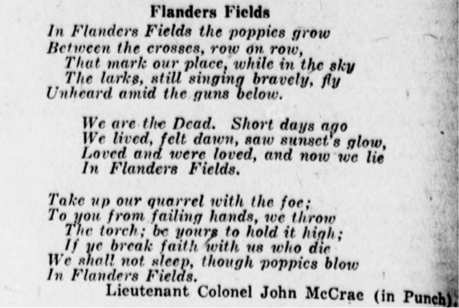 "In honor of Natl #Poetry Month &  #WW1 centennial, poetry by soldiers, including the famous ""In Flanders Fields"" https://t.co/H02cP7r5eh https://t.co/Gh8hl6IG05"