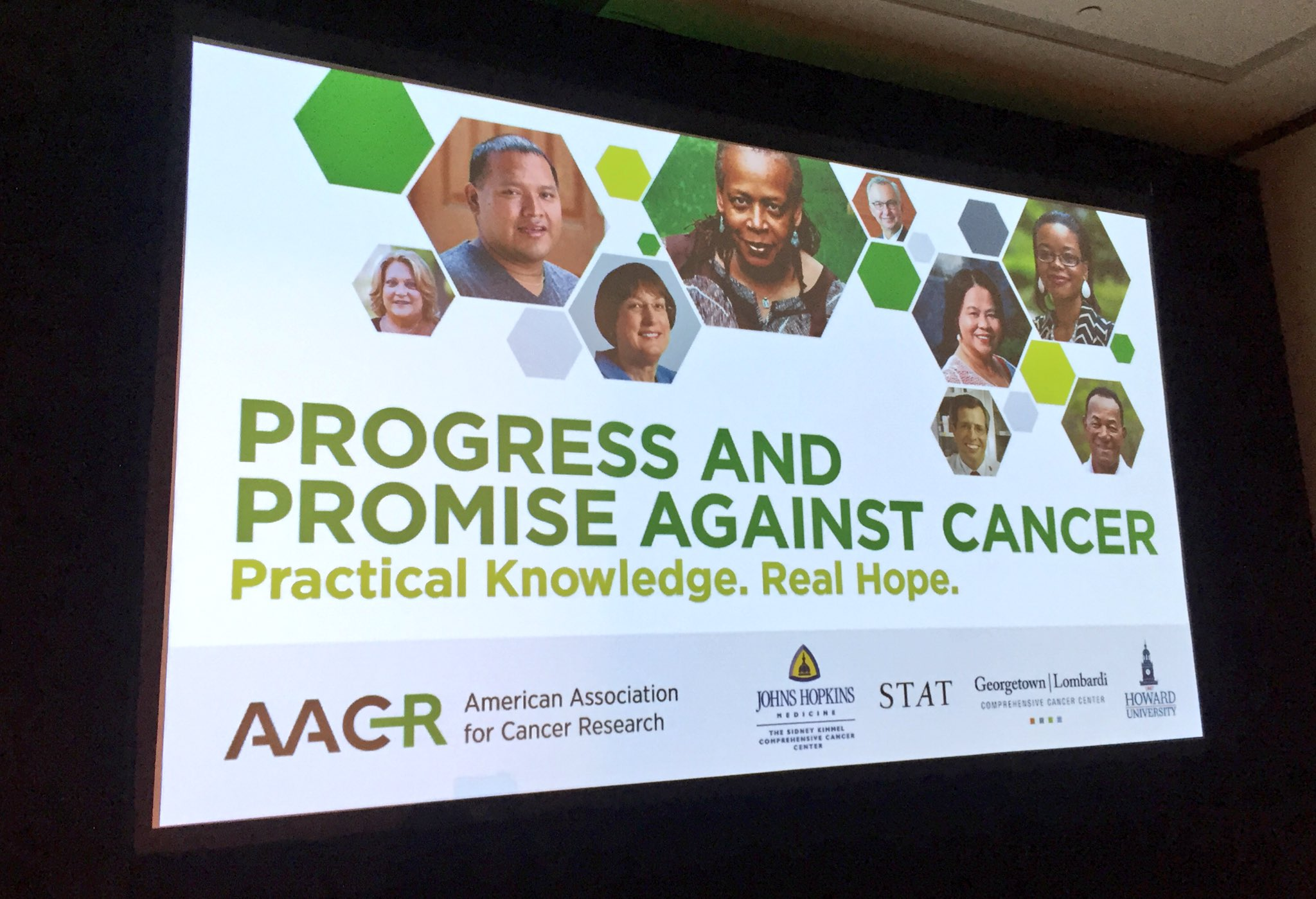 The Progress and Promise Against Cancer community event is about to begin. #AACRTalksCancer #AACR17 https://t.co/DyH971IzGF