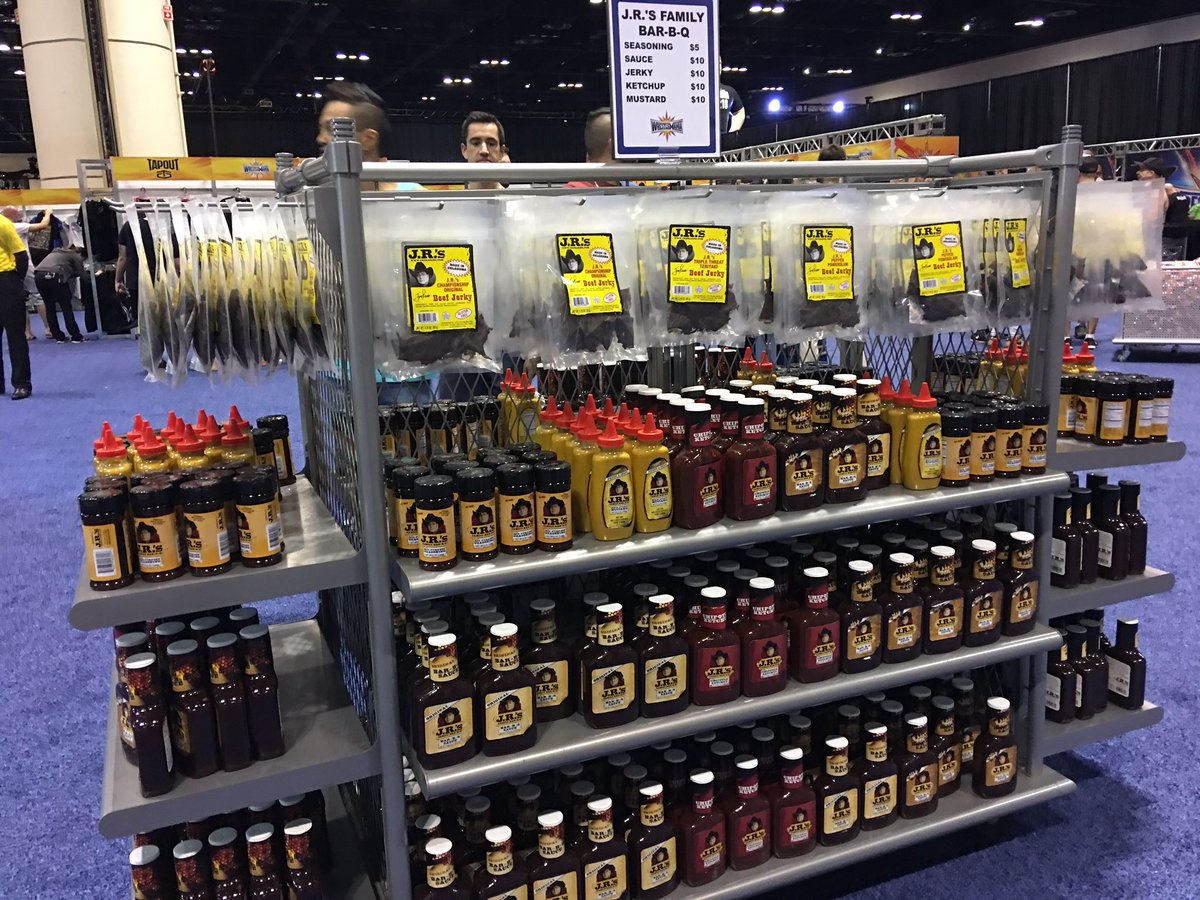 377cbfb27 my man jrsbbq is well represented at the wwe superstore with all his bbq  sauces seasoning