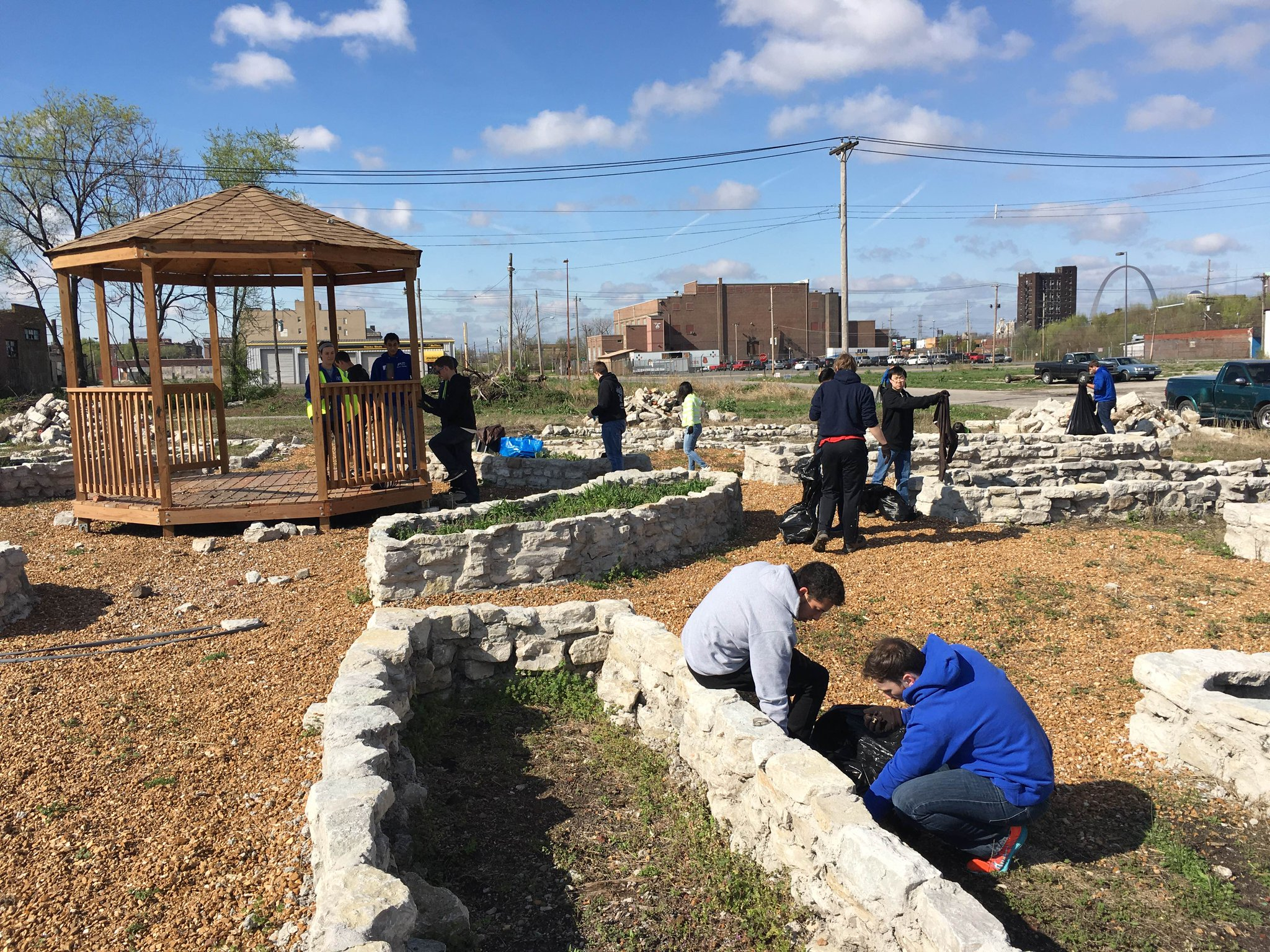 We are working inside and outside today and the Christian Activity Center! #ServiceDay https://t.co/F5hIBHfaQa