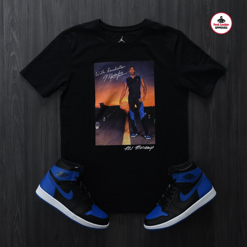 aba85a068e0bea Air  jordan 1 royal collection  pick up the new mj mondays tee in ...