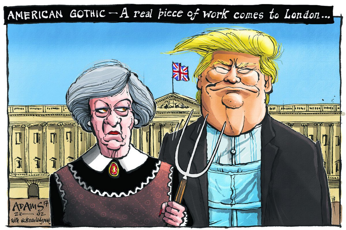 Most Parodied Artworks Of All Time Grant Woods American Gothic Comes To London
