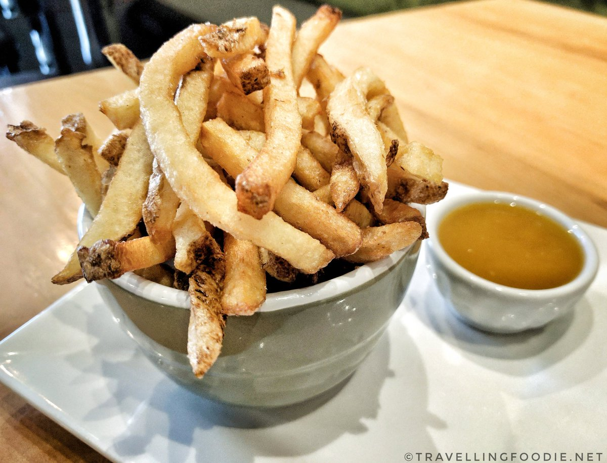 Savour Stratford Maple Trail: Keystone Alley - maple-butternut squash dipping sauce paired with house-made French fries