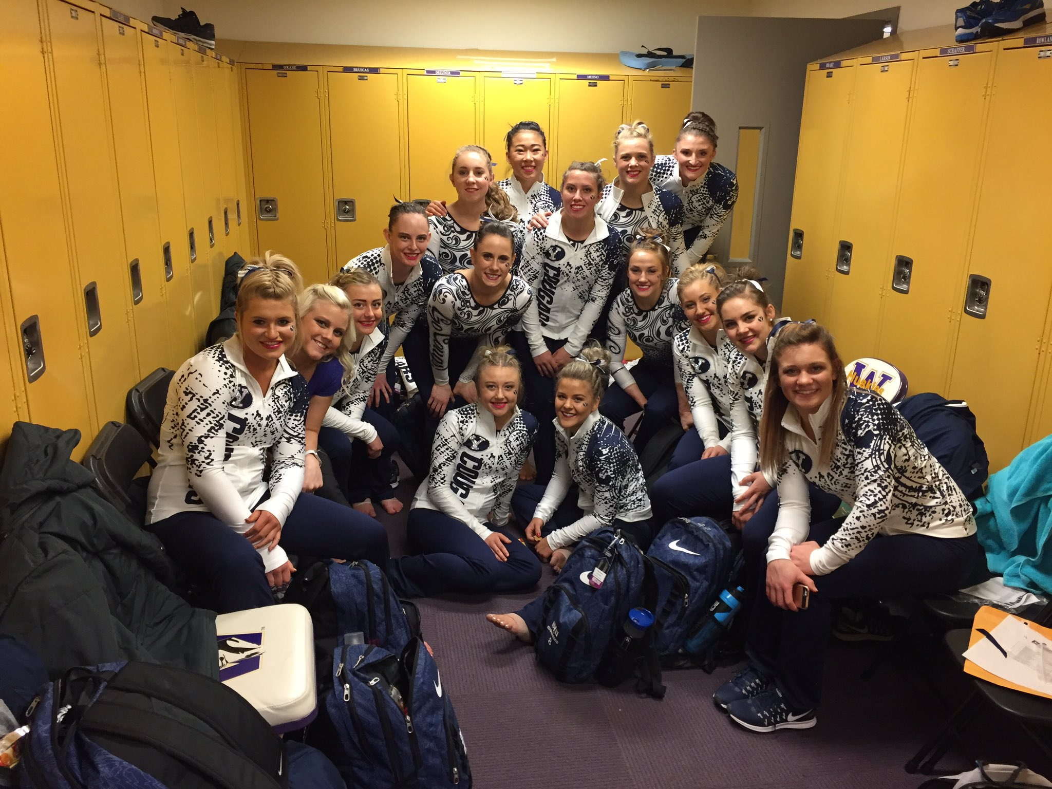 Ready for march-out! @BYUgymnastics #NCAAgym #GoCougs https://t.co/W5MOzbPgjB