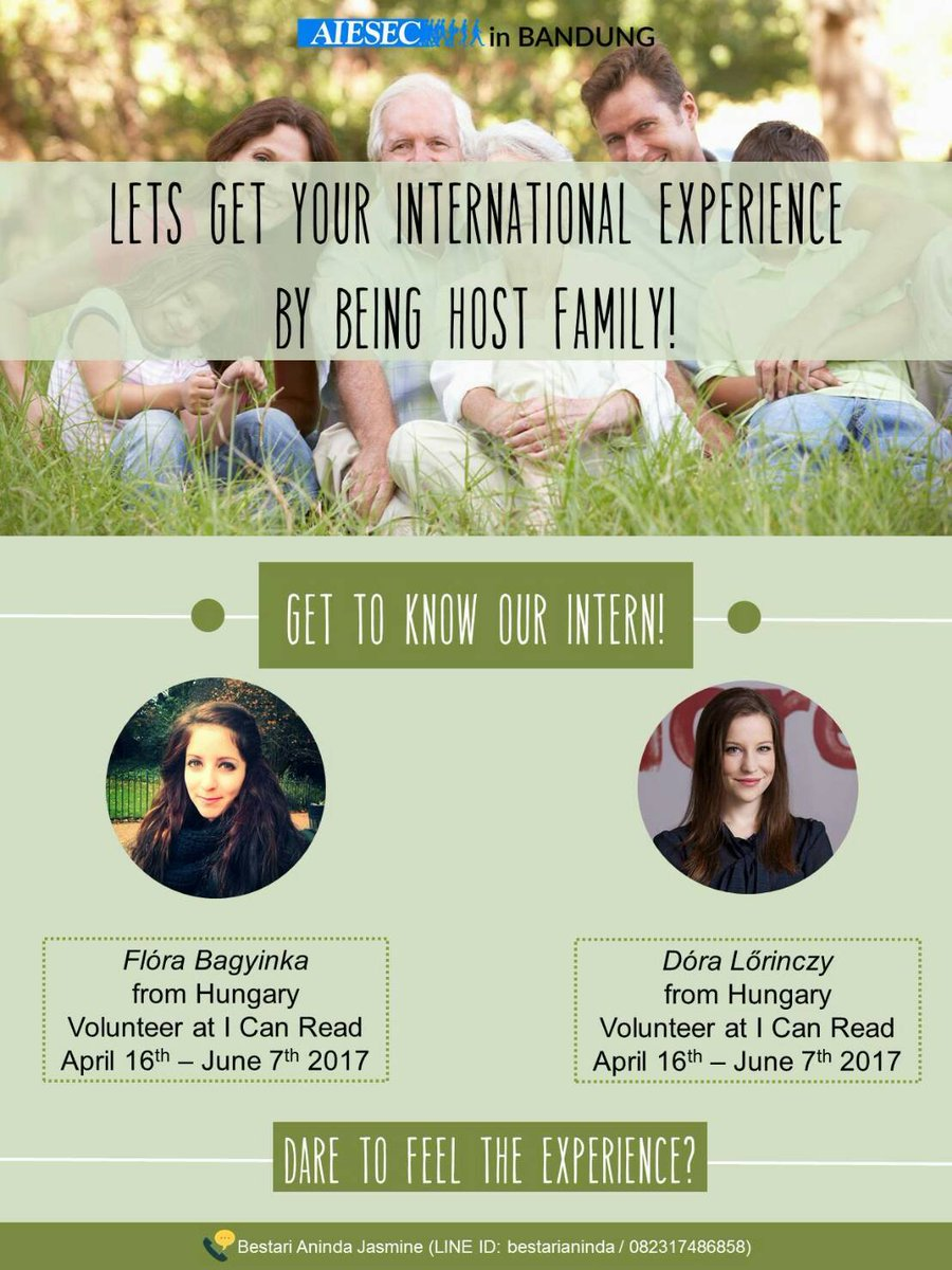 Dare to feel the experience? Let's be an Host Fam to get international experience in your home! https://t.co/1Bd19iW0SM