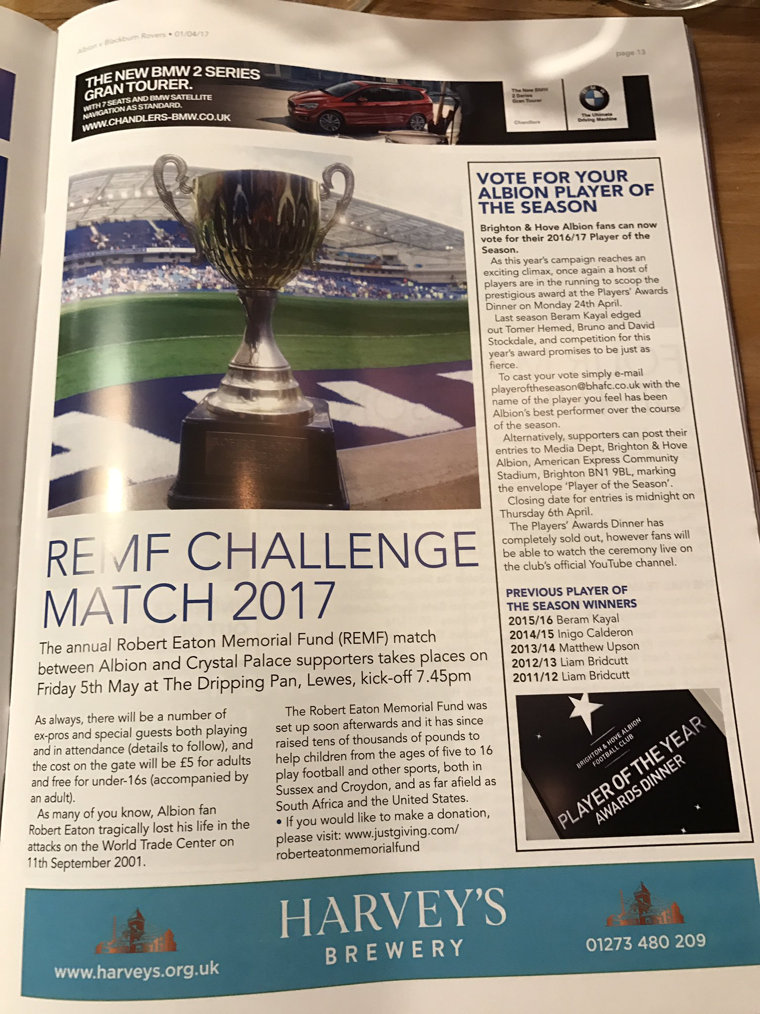 The Remf On Twitter Thanks Officialbhafc For The Plug About The