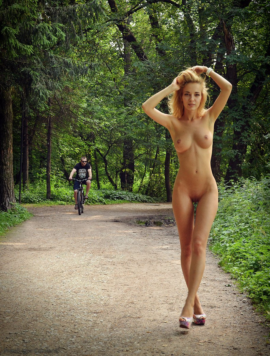 Stretched Nude Women Bound Outdoors