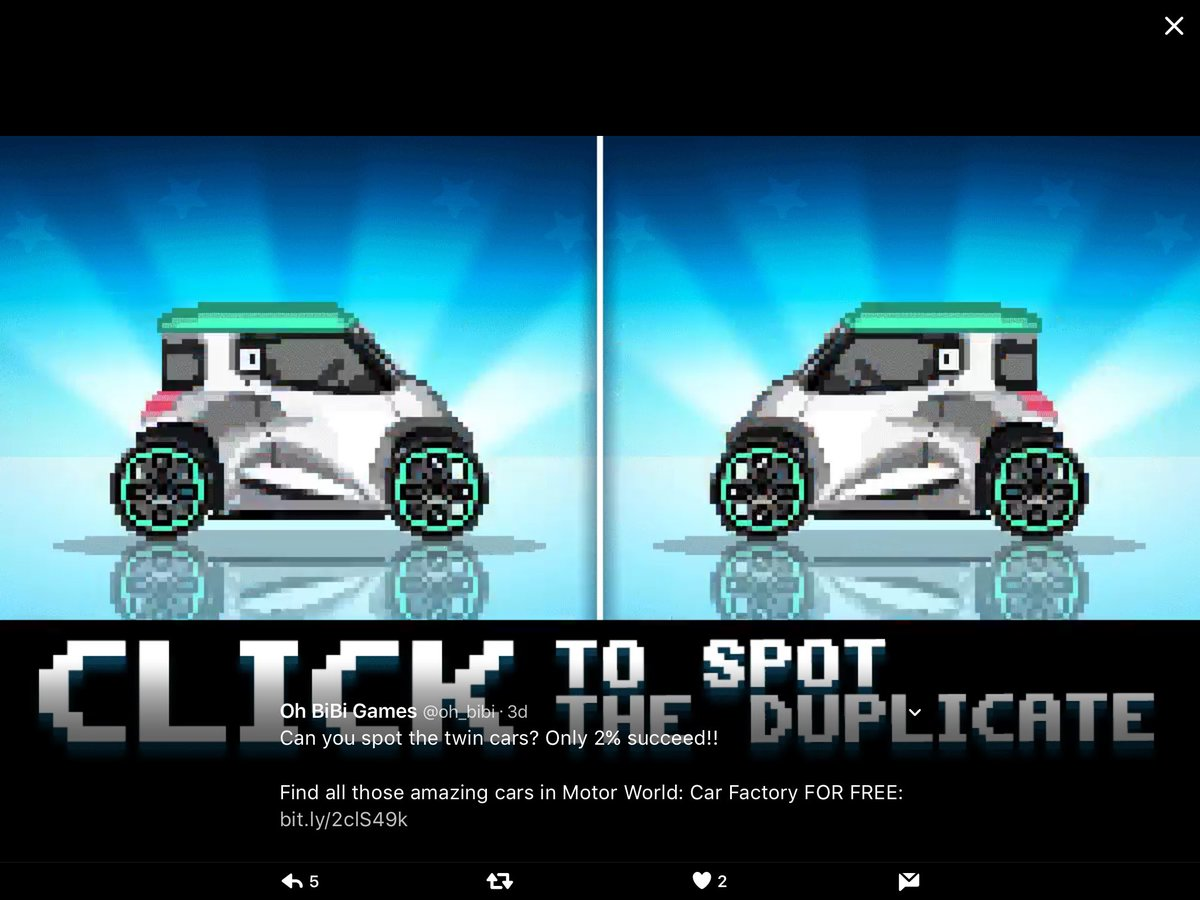 Motor World Car Factory >> Oh Bibi Games On Twitter Can You Spot The Twin Cars Only 2