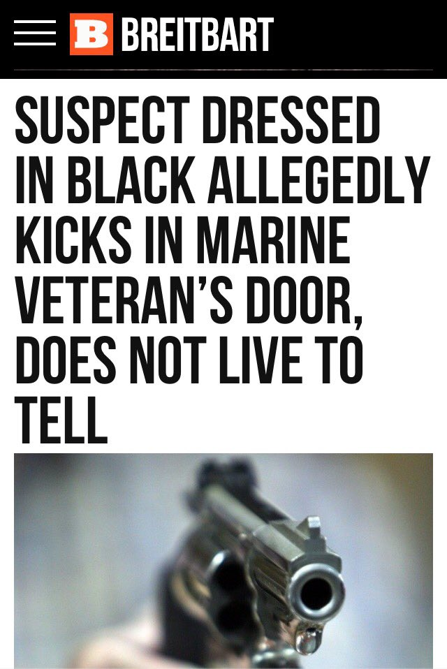 Today 39 s feel good story suspect in black kicks in vets - Leave you dead in the living room ...
