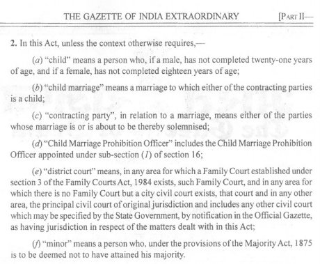 indian majority act 1875