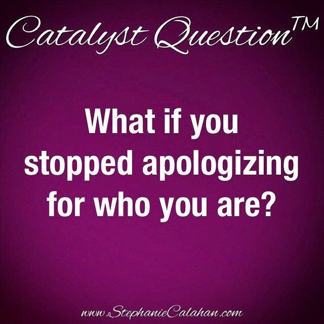 What if you stopped  apologizing for who you are?⠀⠀ #CatalystQuestion #MagneticMindset  http:// ift.tt/2nv8DHk  &nbsp;  <br>http://pic.twitter.com/pmbh57gW9p