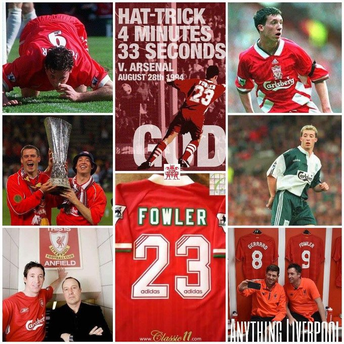 Happy 42nd birthday to Robbie Fowler who scored 183 goals in 369 matches for Liverpool God