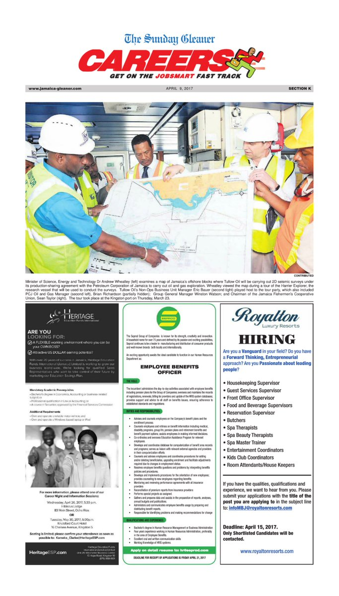 Jobs In Jamaica Gleaner