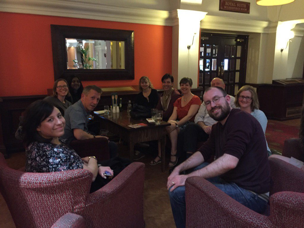 #Aldcon @cel_bu and the steering group convene in the bar to finalise our conference plans https://t.co/5jH4qu7KNZ