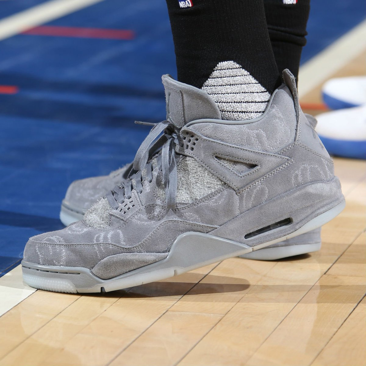 a001f9a32c16e8 solewatch pj tucker wearing the kaws x air jordan 4 vs the knicks