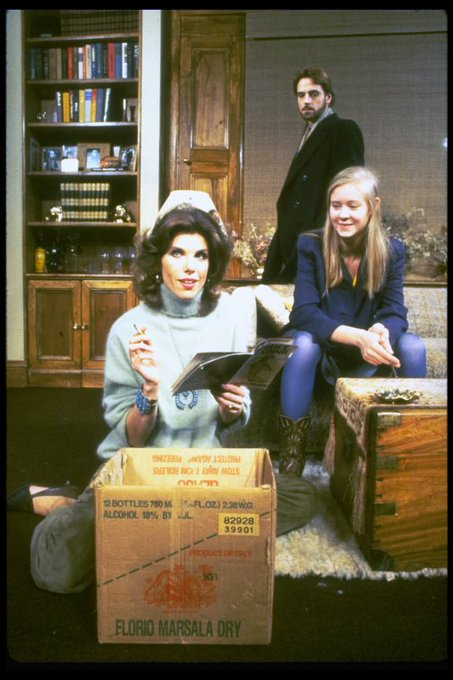 Happy birthday to Cynthia Nixon, here w/ Christine Baranski & Jeremy Irons in THE REAL THING, 1984. Via
