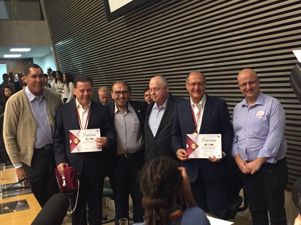 Marconi e Alckmin são homenageados em evento nacional do PHS. https://t.co/sTtKgWhbwn https://t.co/erY4HVutLl