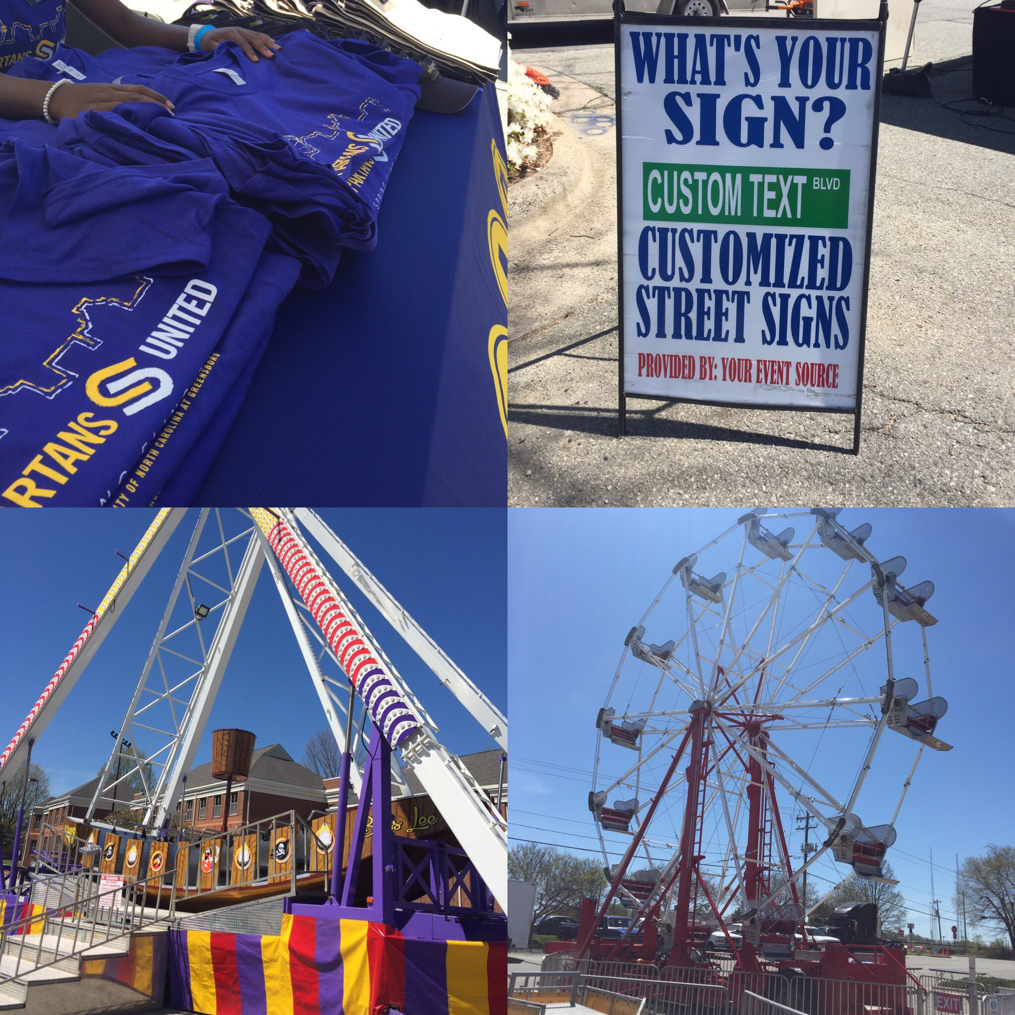 Cool Shirts ✅ Thrill Rides ✅ FREE STUFF!!! ✅ Funnel Cakes ✅ #Spartapalooza #UNCGSpringFling #AlmostTime https://t.co/DKKNUGQsP0
