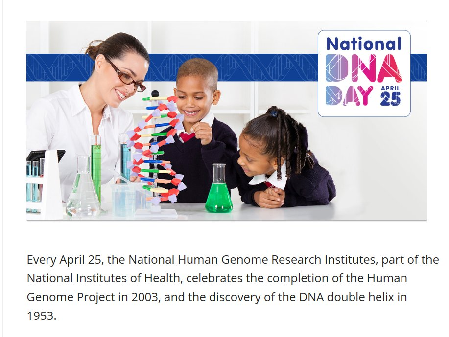 Support National DNA Day April 25 via @ThunderclapIt.  #DNAday17 https://t.co/yAwdDp6YgR https://t.co/S51VB8n1ab