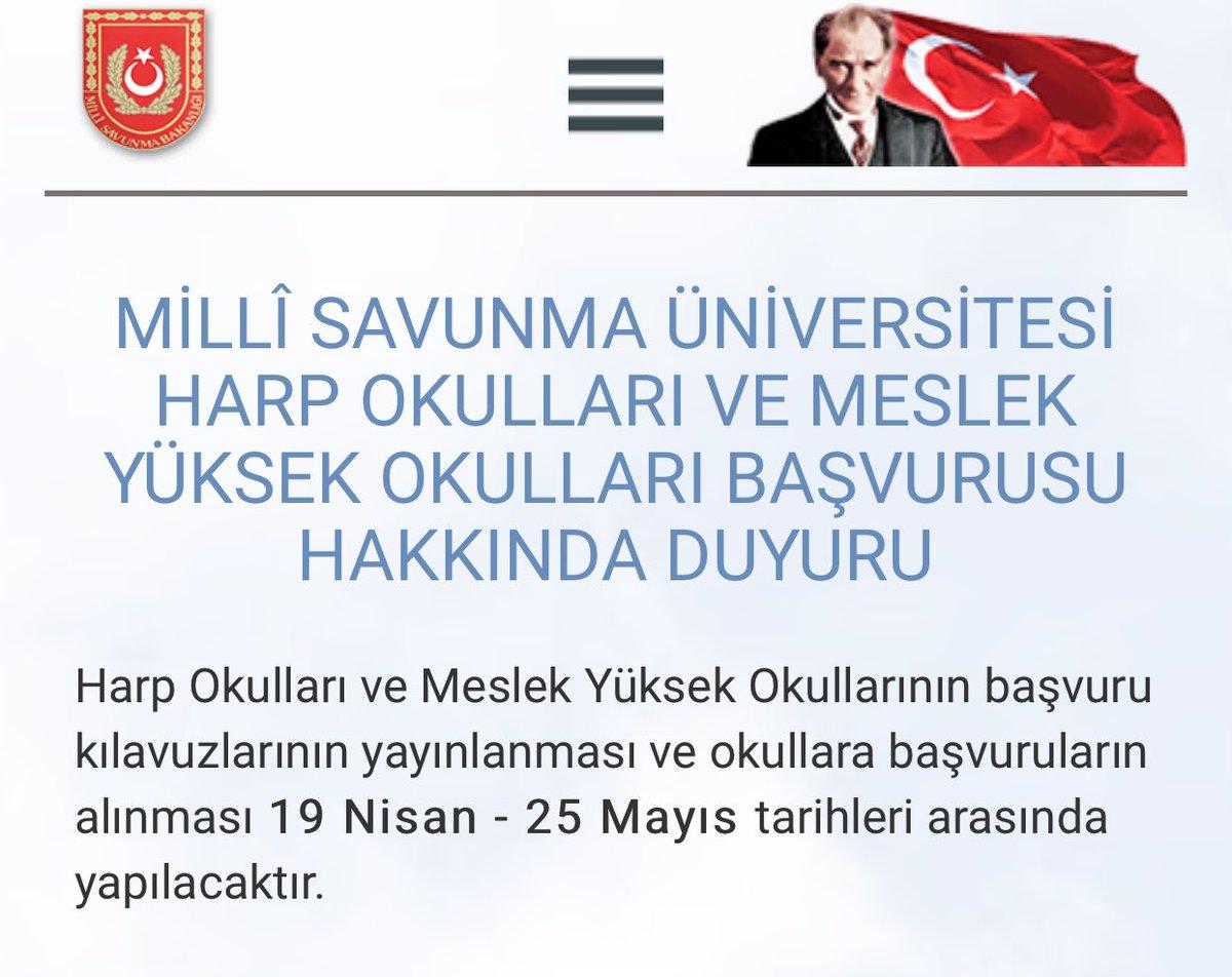 Milli Savunma Üniversitesi Başvuruları