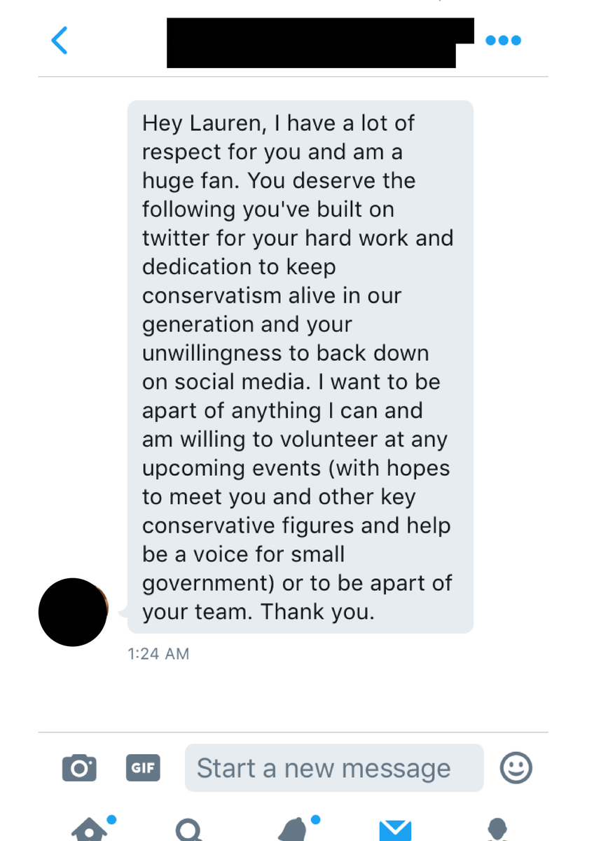 lauren cooley on twitter kind messages like this death threats