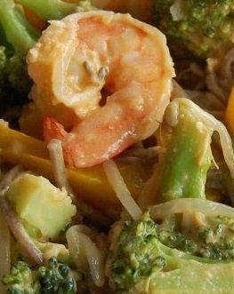 Coconut Shrimp with Noodles