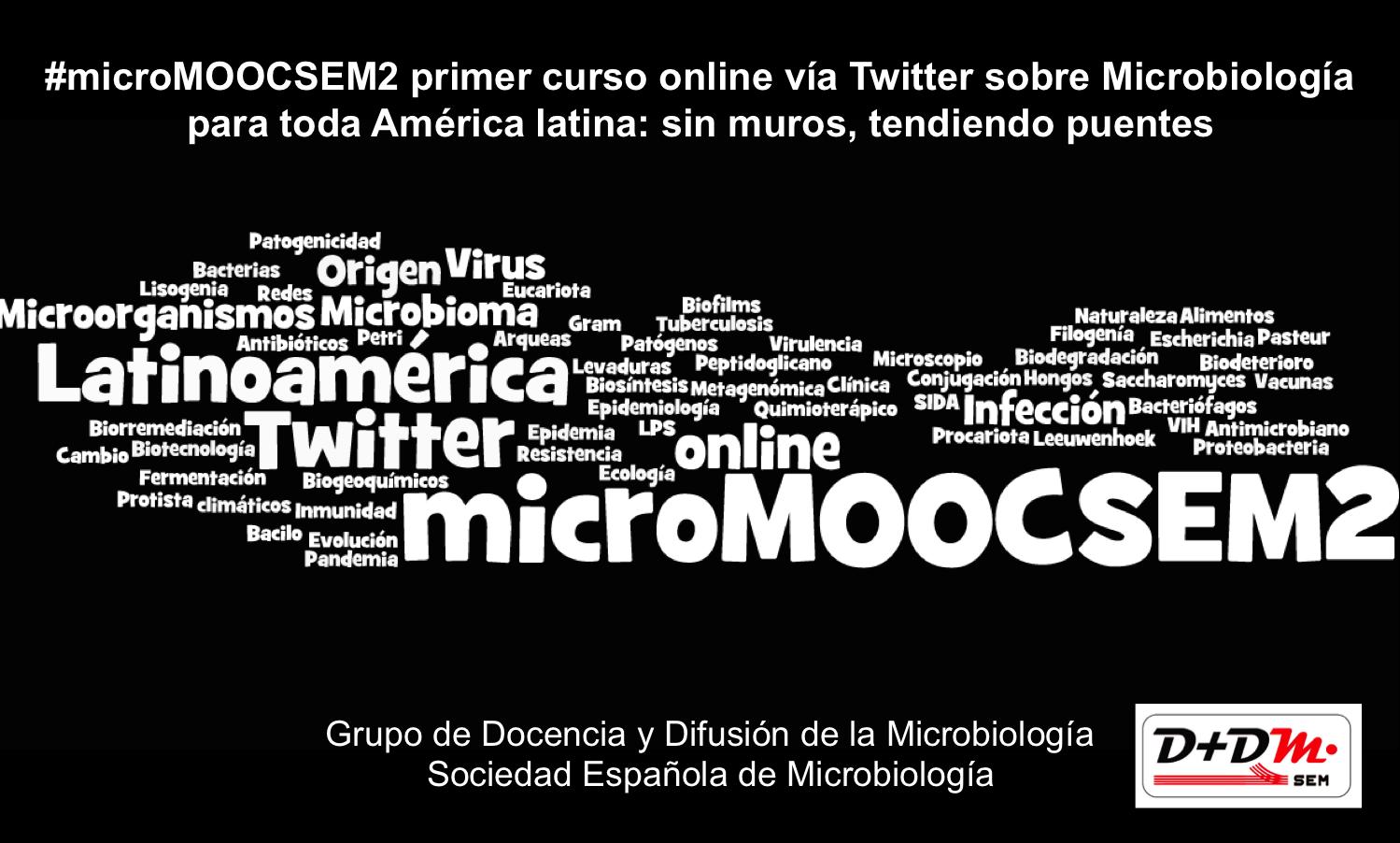 Comienza #microMOOCSEM2 el curso de microbiología vía Twitter y Facebook para España y toda América latina https://t.co/446V1mR1Qx