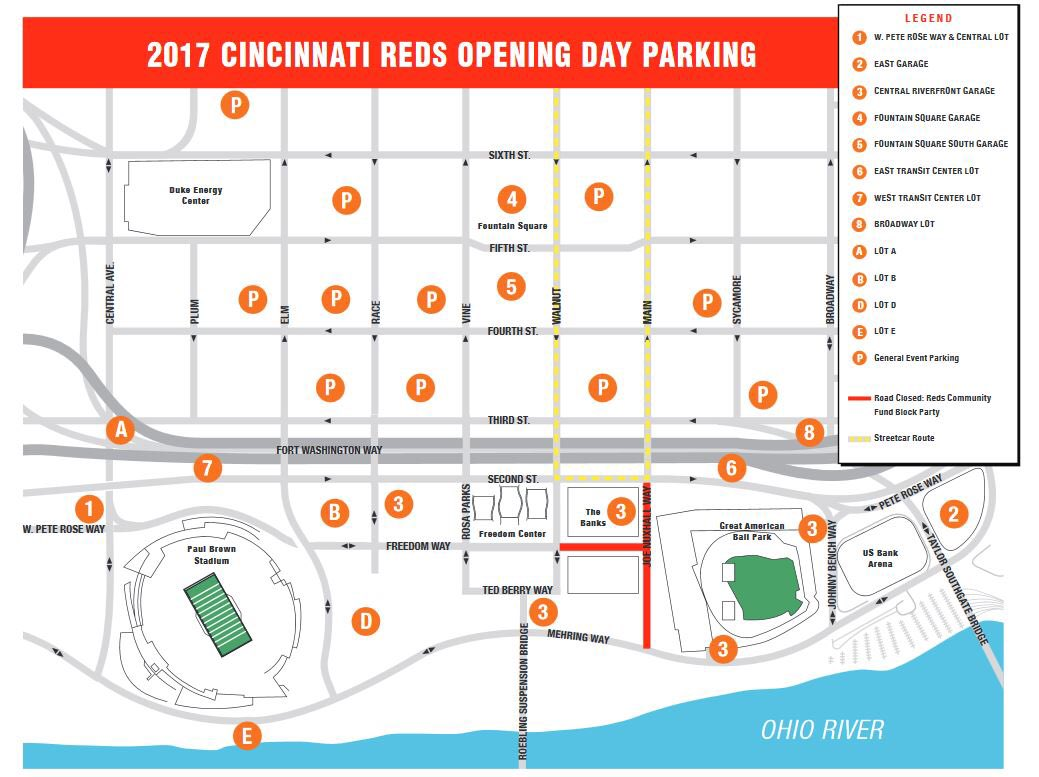 City Of Cincinnati On Twitter Map Traffic Parking Info For The