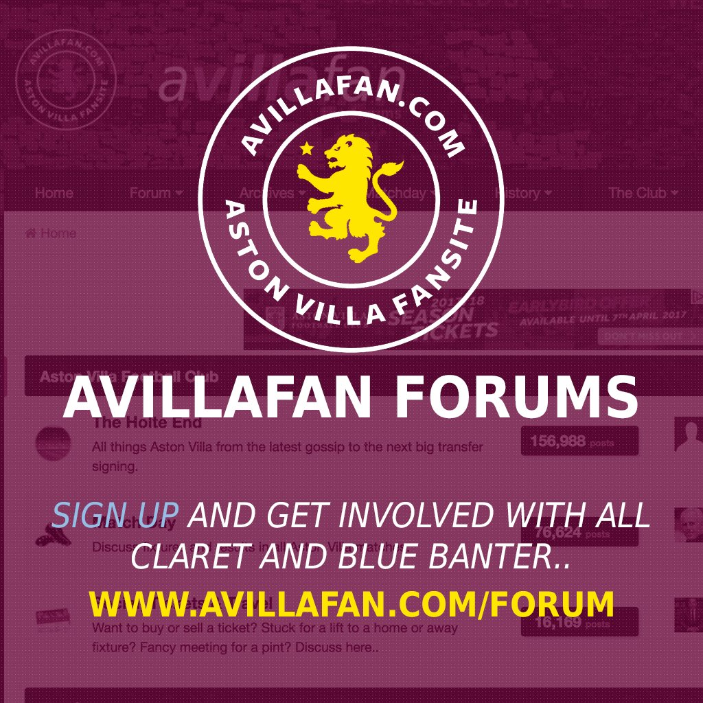Claret And Banter >> Avillafan Com On Twitter Avillafan Forums Sign Up And
