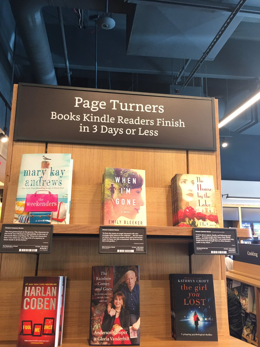 These are some of the ways that the Amazon brick and mortar book store is categorizing books. https://t.co/fTwZCokK4O