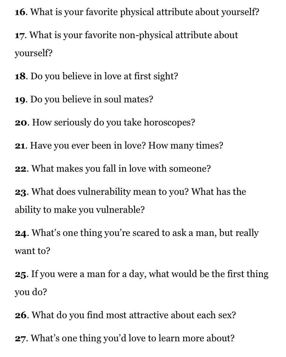 What to ask to a girl