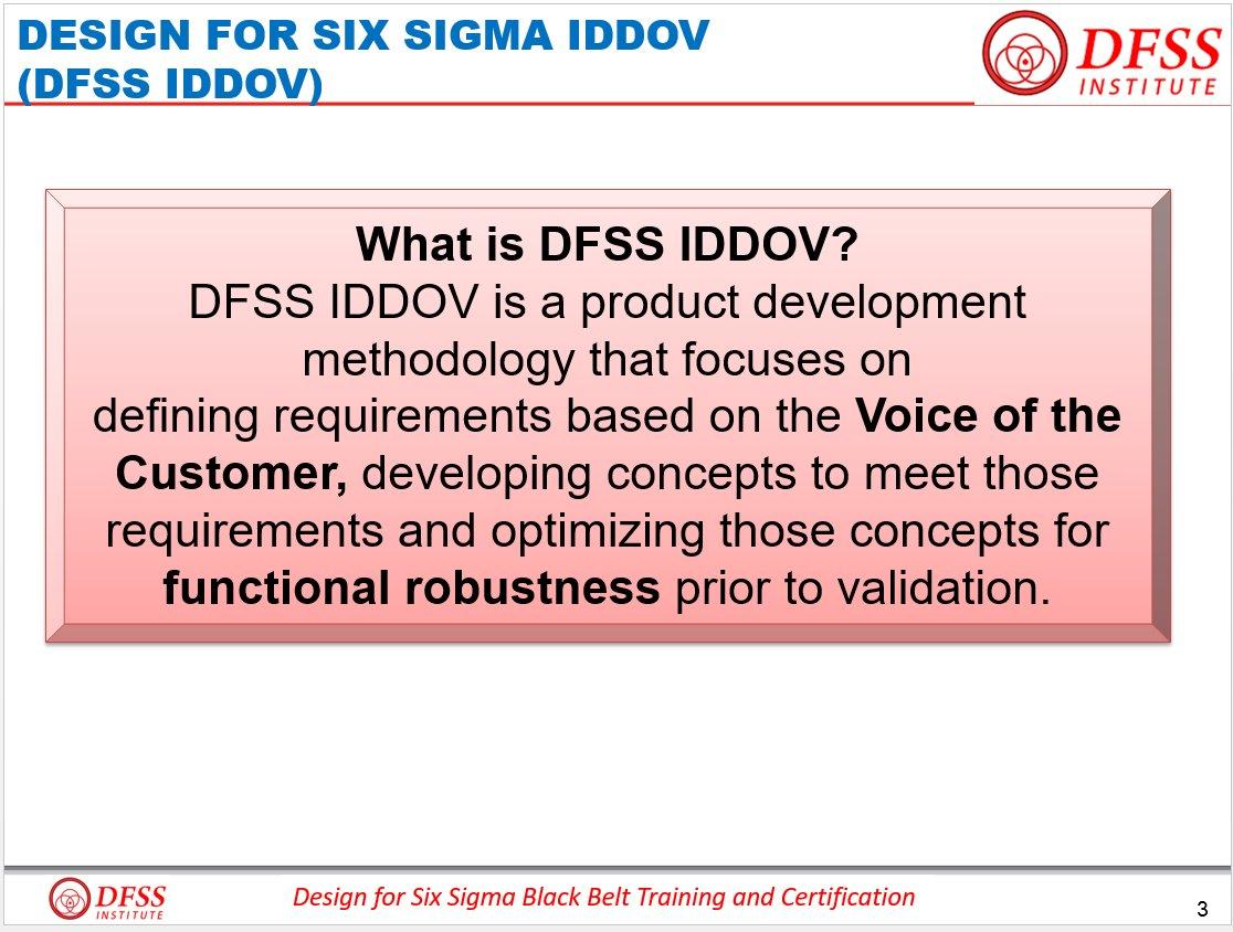 Dfss Institute On Twitter What Is Iddov Identify Design Develop