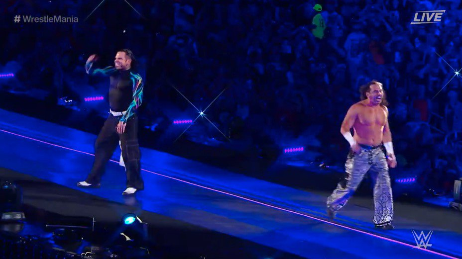 THE HARDY BOYZ ARE HERE #WrestleMania https://t.co/Or8FyNTXqw
