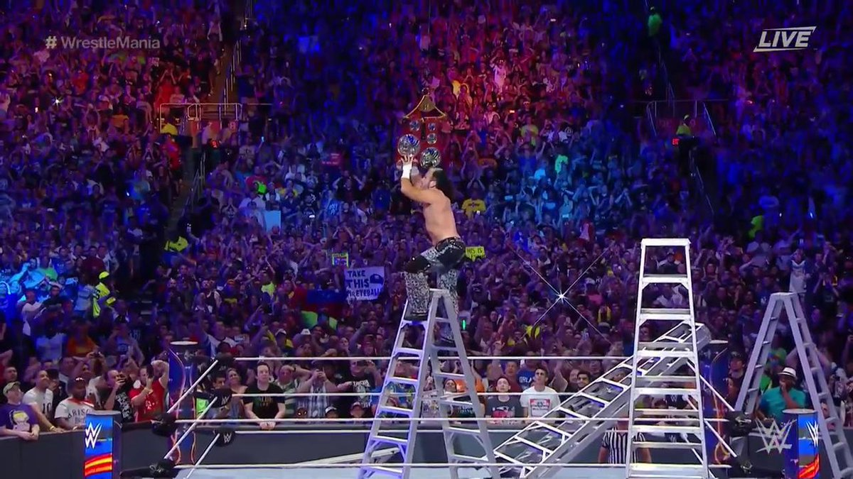 IT HAS HAPPENED! @MATTHARDYBRAND and @JEFFHARDYBRAND are your NEW #RAW #TagTeamChampions! #WrestleMania